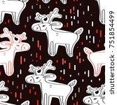 vector illustration. seamless... | Shutterstock .eps vector #751854499