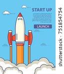 start up of business.flight of... | Shutterstock .eps vector #751854754