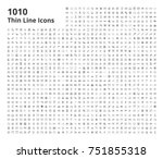 Bundle of 1010 Icons | Shutterstock vector #751855318