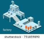 isometric 3d illustration... | Shutterstock . vector #751859890