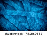 torn and crumpled blue paper...   Shutterstock . vector #751860556