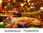 fried pig | Shutterstock . vector #751860934