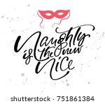 christmas and new year fashion... | Shutterstock .eps vector #751861384