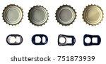 beer bottle caps and ring pulls ... | Shutterstock . vector #751873939