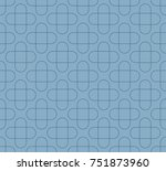 blue ovals on a blue background.... | Shutterstock .eps vector #751873960