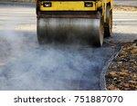 mini compactor tires the upper...   Shutterstock . vector #751887070