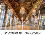 hall of mirrors in the palace... | Shutterstock . vector #751889290