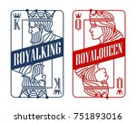 king and queen playing card | Shutterstock .eps vector #751893016