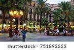 nightlife of popular lively... | Shutterstock . vector #751893223