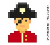 pixel art pirates art cartoon... | Shutterstock .eps vector #751893454