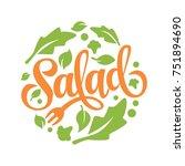 lettering salad logo | Shutterstock .eps vector #751894690