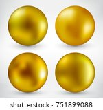 vector golden ball.realistic... | Shutterstock .eps vector #751899088