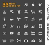 hotel icons | Shutterstock .eps vector #751899970