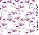 seamless pattern with poppy and ... | Shutterstock . vector #751903459