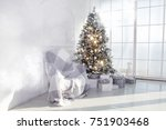 interior living room with a...   Shutterstock . vector #751903468