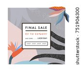 creative sale header or banner... | Shutterstock .eps vector #751906300