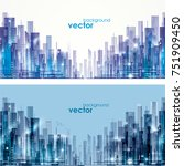 futuristic city skylines at day ... | Shutterstock .eps vector #751909450