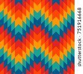 ethnic style seamless pattern... | Shutterstock .eps vector #751916668