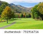 beautiful golf course fairway... | Shutterstock . vector #751916716