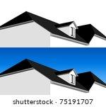 3d house illustration in vector | Shutterstock .eps vector #75191707