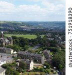 halifax yorkshire overhead... | Shutterstock . vector #751918390