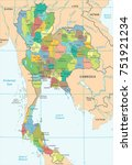 thailand map   high detailed... | Shutterstock .eps vector #751921234