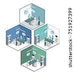 isometric 3d illustration... | Shutterstock . vector #751927399