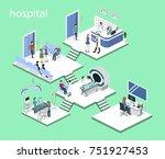 isometric 3d illustration set... | Shutterstock . vector #751927453
