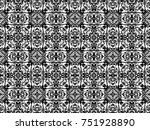 ornament with elements of black ... | Shutterstock . vector #751928890