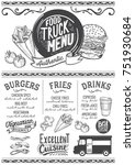 food truck menu for street... | Shutterstock .eps vector #751930684