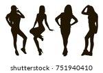 girl silhouettes   Shutterstock .eps vector #751940410