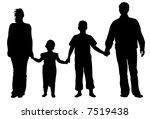 family of four vector | Shutterstock .eps vector #7519438