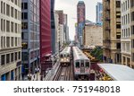 elevated train tracks above the ... | Shutterstock . vector #751948018