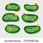 set of funny quotes about golf... | Shutterstock .eps vector #751948756