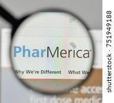 Small photo of Milan, Italy - November 1, 2017: Phar Merica logo on the website homepage.