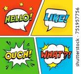 Retro Comic Speech Bubbles Set...