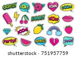 modern cute colorful patch set... | Shutterstock .eps vector #751957759