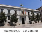 granada city hall building with ... | Shutterstock . vector #751958320