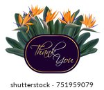thank you vector card with... | Shutterstock .eps vector #751959079