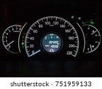 car speedometer panel. view at... | Shutterstock . vector #751959133