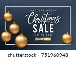 christmas sale banner. special... | Shutterstock .eps vector #751960948