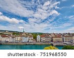 panoramic view of historic... | Shutterstock . vector #751968550