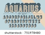 decorative vector vintage retro ... | Shutterstock .eps vector #751978480