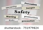 safety news headlines security... | Shutterstock . vector #751979824