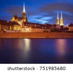 odra river is a beautiful old...   Shutterstock . vector #751985680