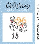 christmas advent calendar... | Shutterstock .eps vector #751986418