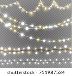 christmas lights isolated on... | Shutterstock .eps vector #751987534