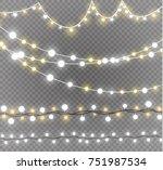 christmas lights isolated on... | Shutterstock .eps vector #751987534