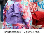 young girl wearing japanese... | Shutterstock . vector #751987756