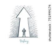 destiny. vector business... | Shutterstock .eps vector #751999174